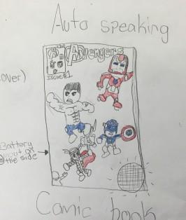 Auto-speaking comic book