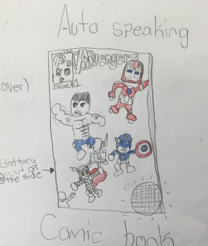 Auto-speaking comic book