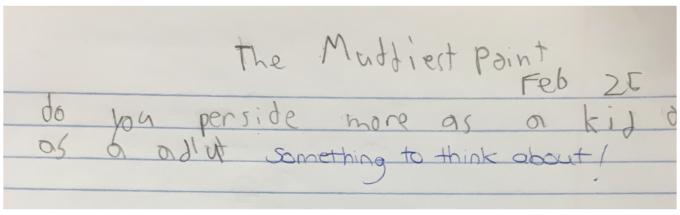 The muddiest point