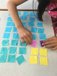 Arranging squares into rectangle