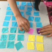 Arranging squares into rectangle