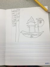 Boat design with materials list