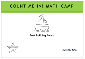 Boat building certificate