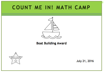 Boat building certificate