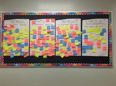 First week bulletin board