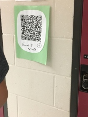 QR codes in the halls!