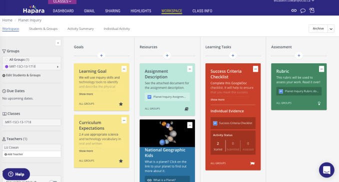 Differentiation in the Classroom Using HaparaWorkspace